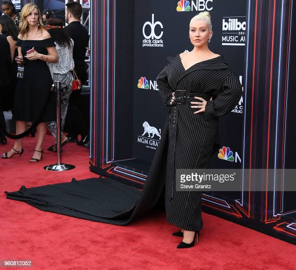 Christina Aguilera arrives at the 2018 Billboard Music Awards at MGM Grand Garden Arena on May 20 2018 in Las Vegas Nevada