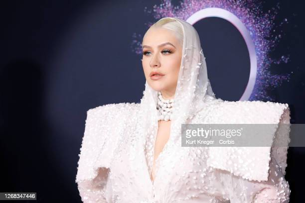 Christina Aguilera arrives at the 2019 American Music Awards at the Microsoft Theater on November 24 2019 in Los Angeles California