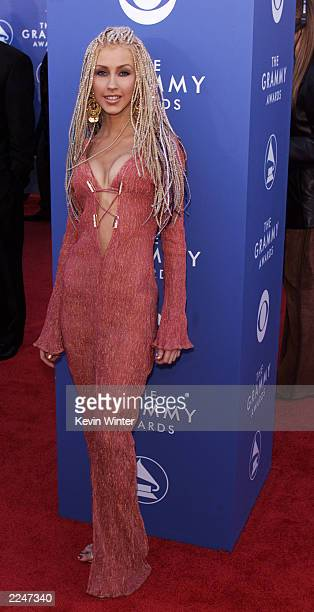 Christina Aguilera arrives at the 43rd Annual Grammy Awards at Staples Center in Los Angeles CA on February 21 2001 Photo credit Kevin Winter/Getty...