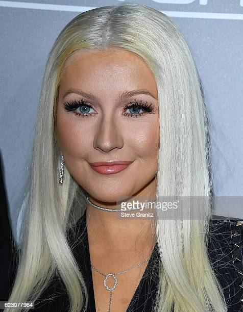 Christina Aguilera arrives at the 5th Annual Baby2Baby Gala at 3LABS on November 12 2016 in Culver City California