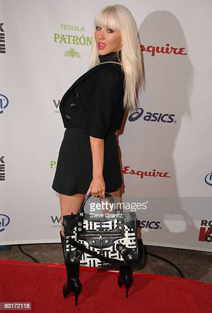 Christina Aguilera arrives at the Esquire House Hollywood Hills' 'Rock The Vote' at the Esquire House Hollywood Hills on September 25 2008 in...