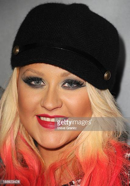 Christina Aguilera arrives at the NBC's 'The Voice' Season 3 at House of Blues Sunset Strip on November 8 2012 in West Hollywood California