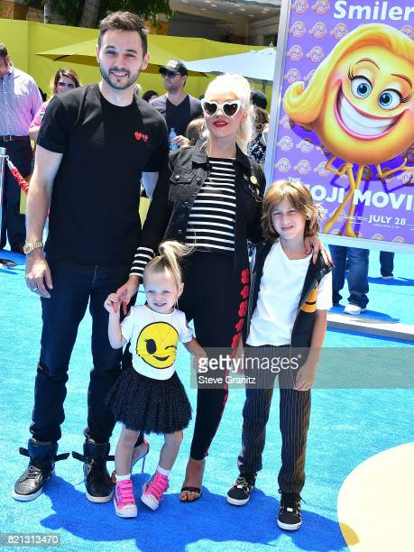 Christina Aguilera arrives at the Premiere Of Columbia Pictures And Sony Pictures Animation's 'The Emoji Movie' at Regency Village Theatre on July 23...