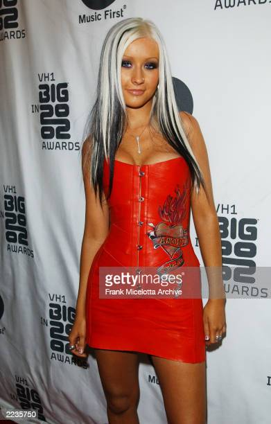 Christina Aguilera arrives at the VH1 Big In 2002 Awards held at Grand Olympic Auditorium in Los Angeles CA December 4 2002 Photo by Frank...