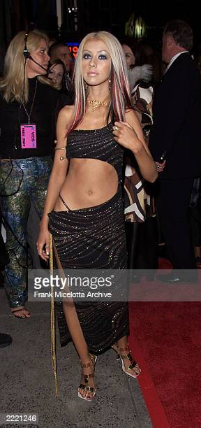 Christina Aguilera arriving at the 2000 MTV Video Music Awards live from Radio City Music Hall in New York City 9/7/2000 Frank Micelotta/Getty Images