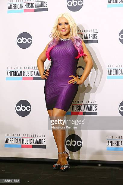 Christina Aguilera at The 40th Anniversary American Music Awards Nominations Announcement held at The JW Marriott Los Angeles at LA LIVE on October 9...