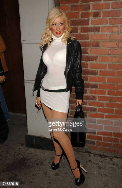 Christina Aguilera at the Marquee in New York City New York