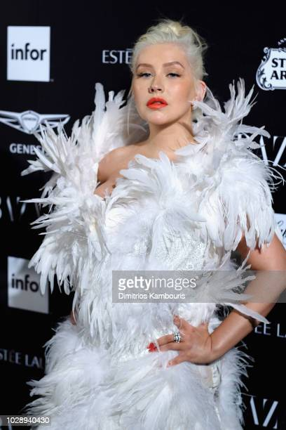 Christina Aguilera attends as Harper's BAZAAR Celebrates ICONS By Carine Roitfeld at the Plaza Hotel on September 7 2018 in New York City