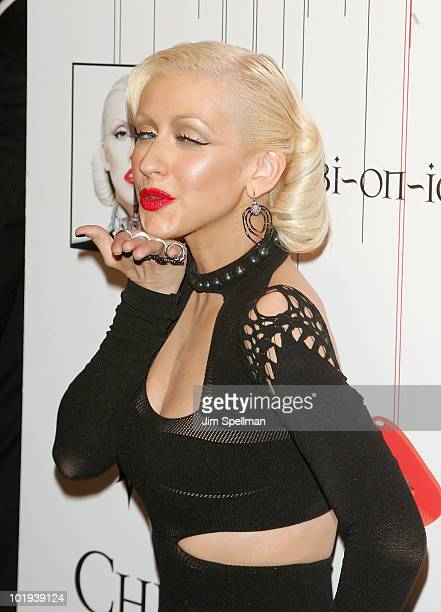 Christina Aguilera attends Christina Aguilera's 'Bionic' album release party at Avenue on June 9 2010 in New York City