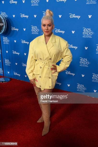 Christina Aguilera attends D23 Disney Legends event at Anaheim Convention Center on August 23 2019 in Anaheim California