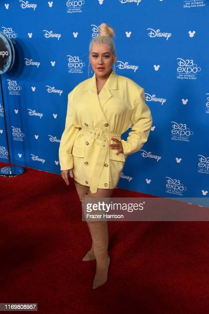 Christina Aguilera attends D23 Disney Legends event at Anaheim Convention Center on August 23, 2019 in Anaheim, California.