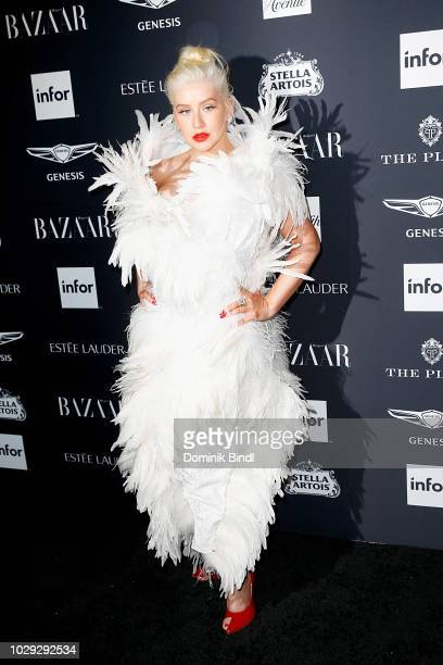 Christina Aguilera attends Harper's BAZAAR Celebrates 'ICONS By Carine Roitfeld' at The Plaza Hotel on September 7 2018 in New York City