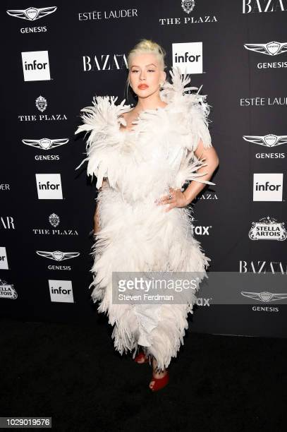 Christina Aguilera attends Harper's BAZAAR ICONS at The Plaza Hotel on September 7 2018 in New York City