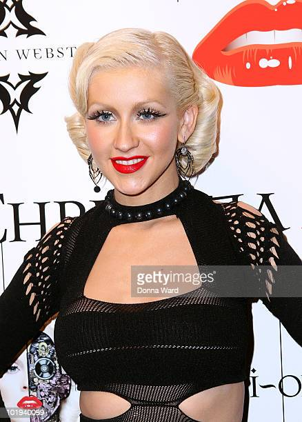 Christina Aguilera attends her 'Bionic' album release party presented by Steven Webster at Avenue on June 9 2010 in New York City