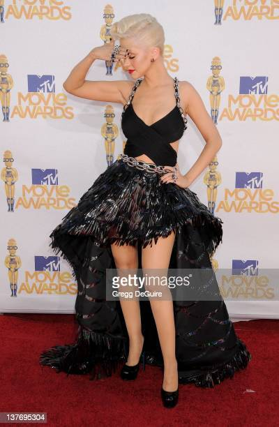 Christina Aguilera attends the 2010 MTV Movie Awards at the Gibson Amphitheatre on June 6, 2010 in Universal City, California.