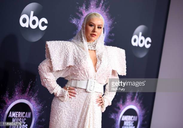 Christina Aguilera attends the 2019 American Music Awards at Microsoft Theater on November 24, 2019 in Los Angeles, California.