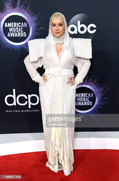 Christina Aguilera attends the 2019 American Music Awards at Microsoft Theater on November 24 2019 in Los Angeles California