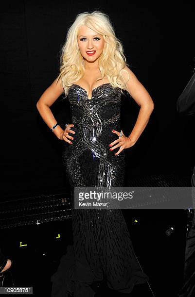 Christina Aguilera attends The 53rd Annual GRAMMY Awards held at Staples Center on February 13, 2011 in Los Angeles, California.