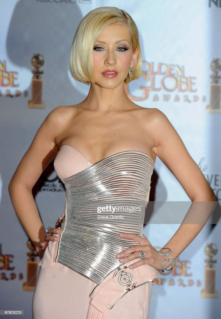 Christina Aguilera attends the 67th Annual Golden Globes Awards at The Beverly Hilton Hotel on January 17, 2010 in Beverly Hills, California.