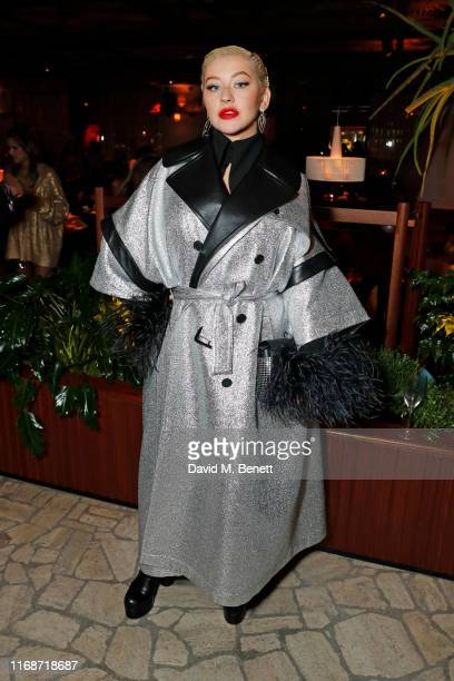 Christina Aguilera attends the LOVE YouTube LFW party supported by PerrietJouet and hosted by Katie Grand Derek Blasberg at Decimo at The Standard...