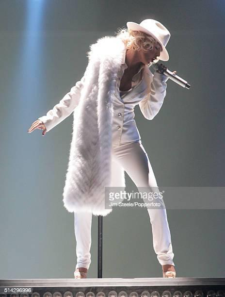 Christina Aguilera 'Back To Basics' In Concert Tour Wembley London 29th November 2006