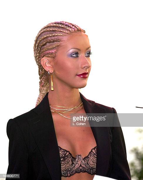 Christina Aguilera during 2001 Radio Records Convention at Century Plaza Hotel in Beverly Hills California United States