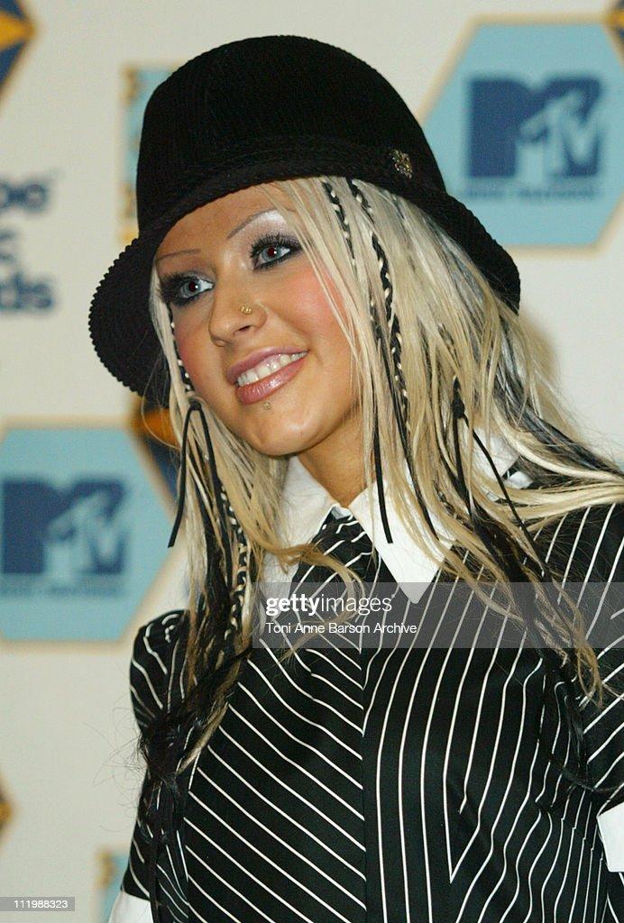 Christina Aguilera during 2002 MTV European Music Awards - Press Room at Palau Sant Jordi in Barcelona, Spain.