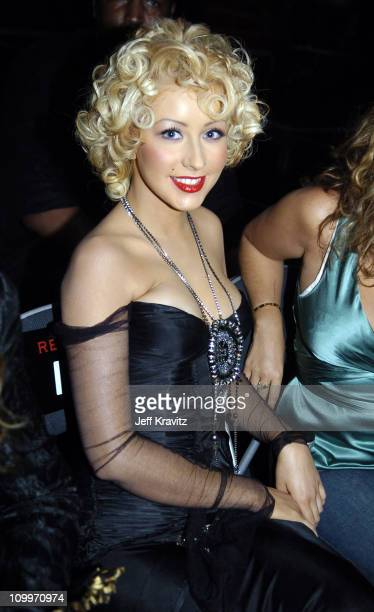 Christina Aguilera during 2004 MTV Video Music Awards Backstage and Audience at American Airlines Arena in Miami Florida United States