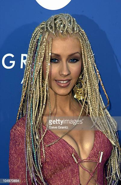 Christina Aguilera during 43rd Annual Grammy Awards at Staples Center in Los Angeles California United States