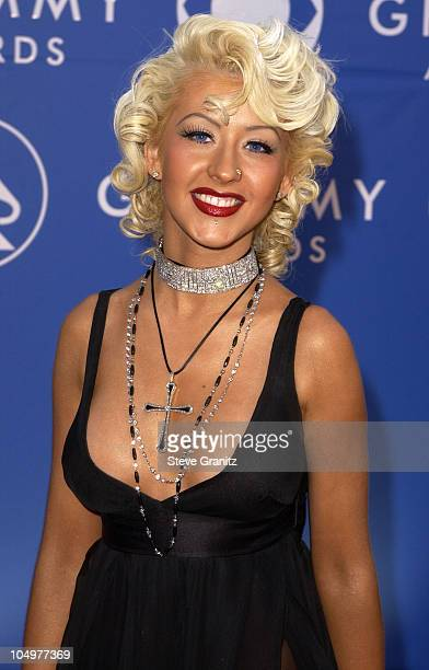 Christina Aguilera during 44th GRAMMY Awards Arrivals at Staples Center in Los Angeles California United States