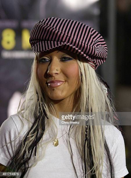 Christina Aguilera during 8 Mile Premiere at Mann Village Westwood in Westwood CA United States