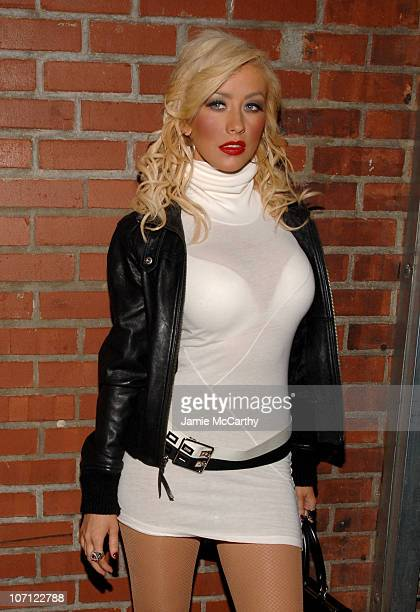 Christina Aguilera during Christina Aguilera 'Back to Basics' After Party at Marquee in New York City at Marquee in New York City New York United...