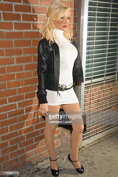 Christina Aguilera during Christina Aguilera Hosts Back To Basics Concert After Party March 23 2007 at Marquee in New York City New York United States