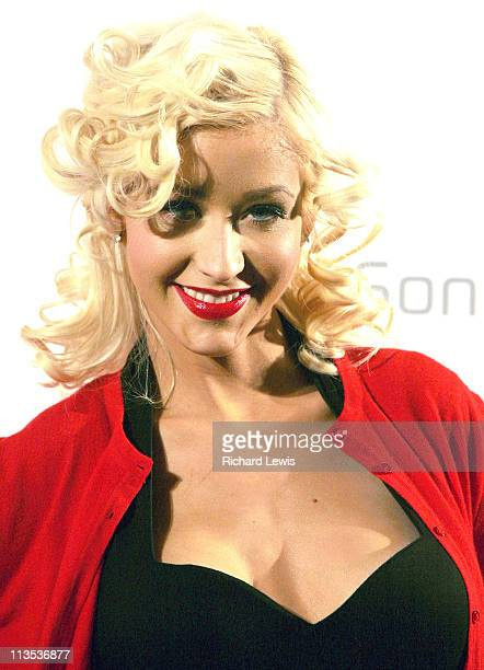 Christina Aguilera during Christina Aguilera Launches Sony Ericsson and Orange Sponsorship Deal at Mandarin Hotel in London Great Britain