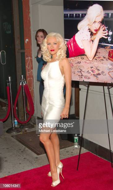Christina Aguilera during Christina Aguilera's NYC Album Release Party August 15 2006 at Marquee in New York City New York United States