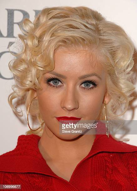 Christina Aguilera during Justin Timberlake Celebrates the Release of His Album Futuresex/Lovesounds at Miauhaus Studios in Los Angeles California...