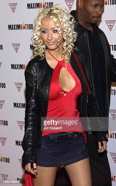 Christina Aguilera during Maxim Hot 100 Party Arrivals at Yamashiro in Hollywood California United States
