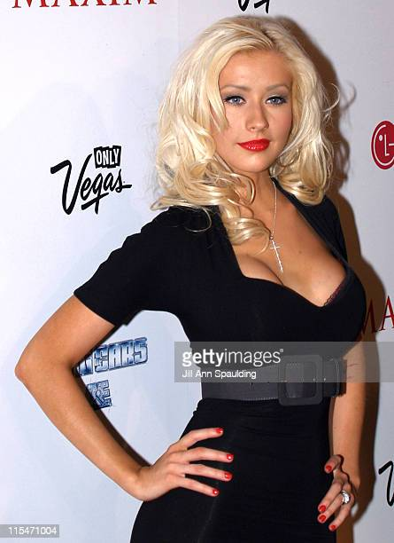 Christina Aguilera during Maxim Magazine 100th Birthday Celebration - Arrivals at Tryst at Wynn Las Vegas in Las Vegas, Nevada, United States.