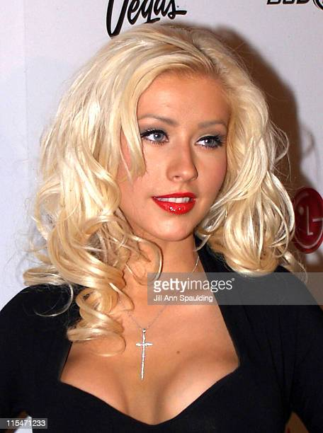 Christina Aguilera during Maxim Magazine 100th Birthday Celebration Arrivals at Tryst at Wynn Las Vegas in Las Vegas Nevada United States