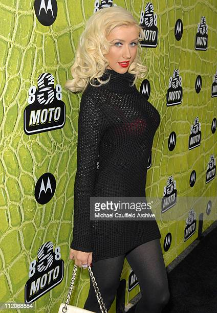 Christina Aguilera during Motorola's 8th Anniversary Party Featuring a Performance by Christina Aguilera at Hollywood Palladium in Hollywood...