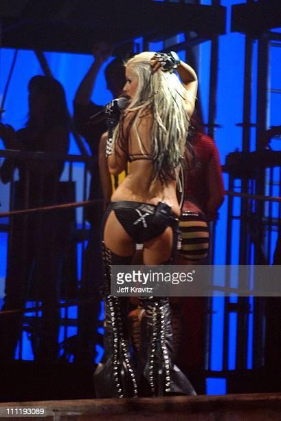 Christina Aguilera during MTV European Music Awards 2002 MTV European Music Awards 2002 at Palau Sant Jordi in Barcelona, Spain.