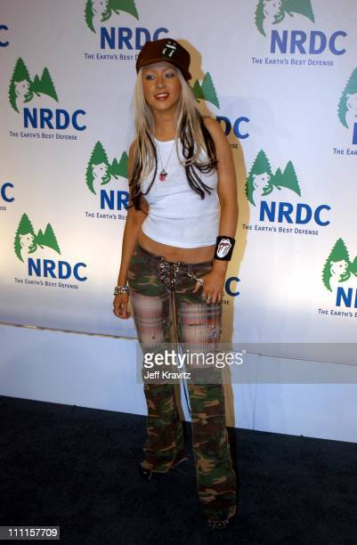 Christina Aguilera during NRDC Rolling Stones Free Concert at Staples Center in Los Angeles CA United States