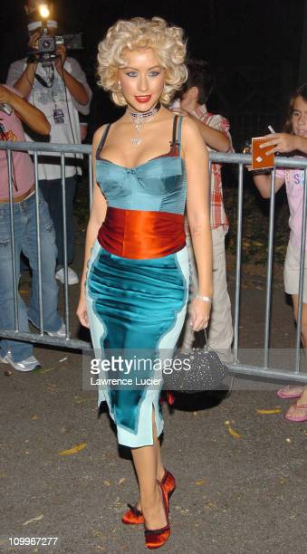 Christina Aguilera during Shark Tale New York Premiere Arrivals at The Delacorte Theatre in Central Park in New York New York United States