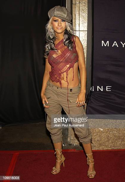 Christina Aguilera during Teen People and Universal Records Honor Nelly as the 2002 Artist of the Year Arrivals at Ivar in Hollywood California...