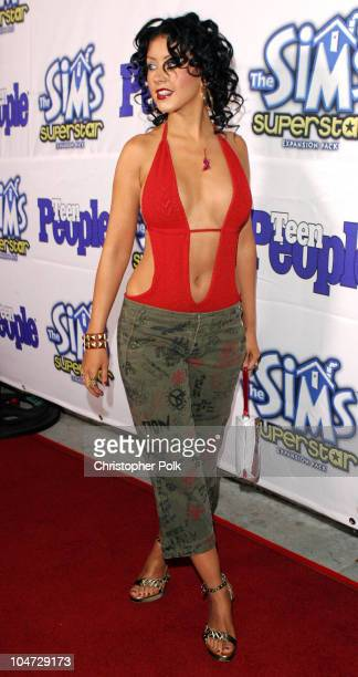 Christina Aguilera during Teen People Celebrates The 6th Annual '25 Hottest Stars Under 25' at Lucky Strike Lanes in Hollywood California United...