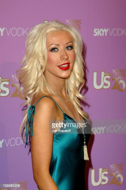 Christina Aguilera during US Weekly's Young Hollywood Hot 20 September 16 2005 at LAX in Hollywood California United States