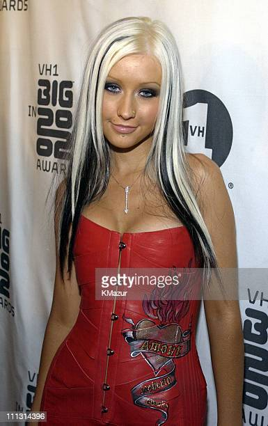 Christina Aguilera during VH1 Big in 2002 Awards Arrivals at The Grand Olympic Auditorium in Los Angeles California United States