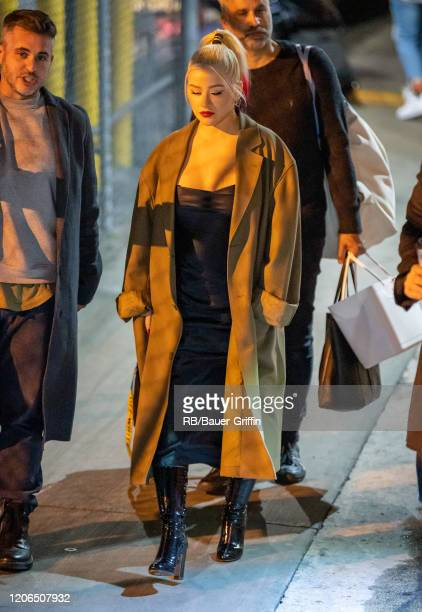 Christina Aguilera is seen at 'Jimmy Kimmel Live' on March 10, 2020 in Los Angeles, California.