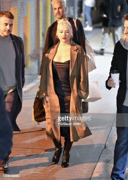Christina Aguilera is seen on March 10, 2020 in Los Angeles, California.