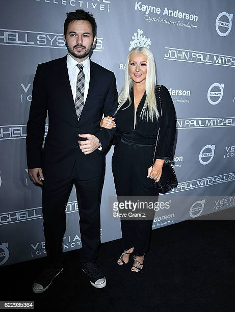 Christina Aguilera Matthew Rutler arrives at the 5th Annual Baby2Baby Gala at 3LABS on November 12 2016 in Culver City California